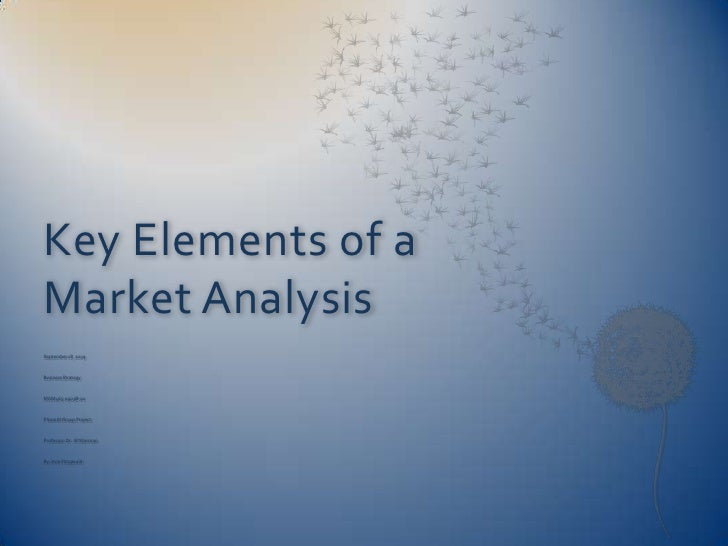 Key Elements of a Market Analysis<br />September 18, 2009<br />Business Strategy<br />MGM465-0903B-02<br />Phase III Group...