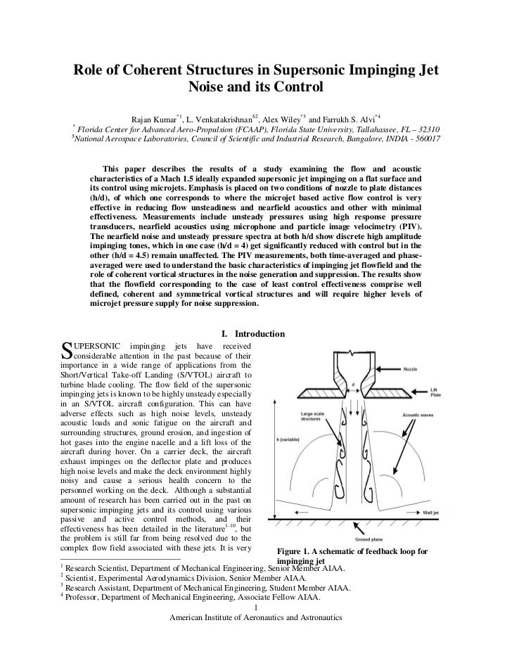 Role of Coherent Structures in Supersonic Impinging Jet                    Noise and its Control                      Raja...