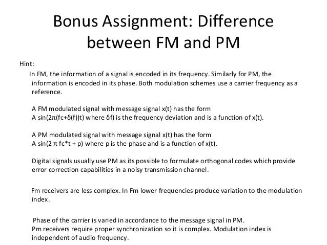 fm pm modulation Frequency modulation the  presentation frequency modulation powerpoint presentation powerpoint presentation powerpoint presentation phase modulation (pm) .
