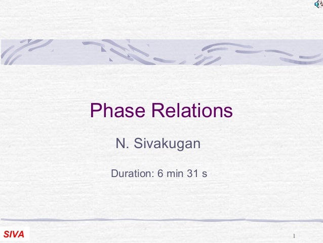 Phase Relations  N. Sivakugan  Duration: 6 min 31 s  SIVA 1