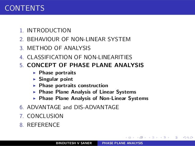 CONTENTS 1. INTRODUCTION 2. BEHAVIOUR OF NON-LINEAR SYSTEM 3. METHOD OF ANALYSIS 4. CLASSIFICATION OF NON-LINEARITIES 5. C...