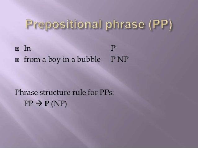 PP PPP P NPin from Det N PPa boy P NPin Det Na bubble