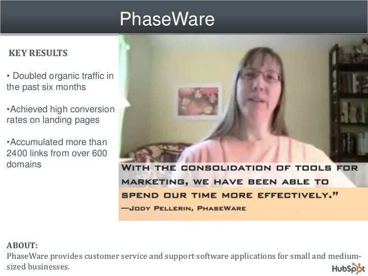 PhaseWare Streamlines Marketing and Doubles Organic Traffic with HubSpot Slide 2