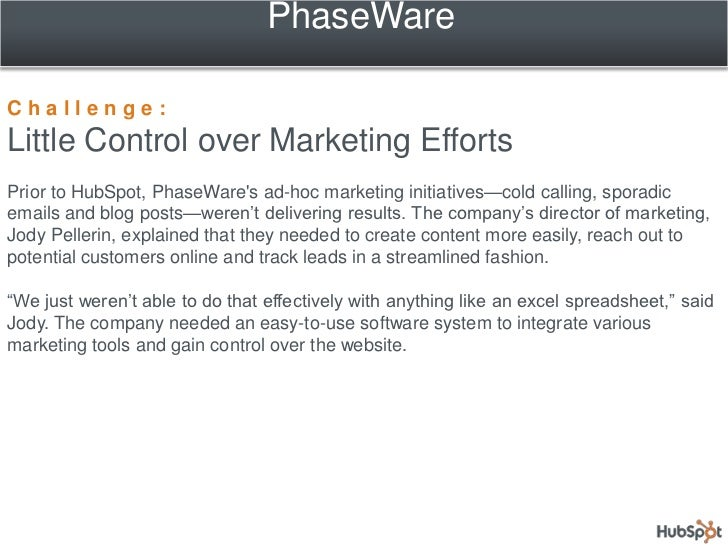 PhaseWare Streamlines Marketing and Doubles Organic Traffic with HubSpot Slide 3