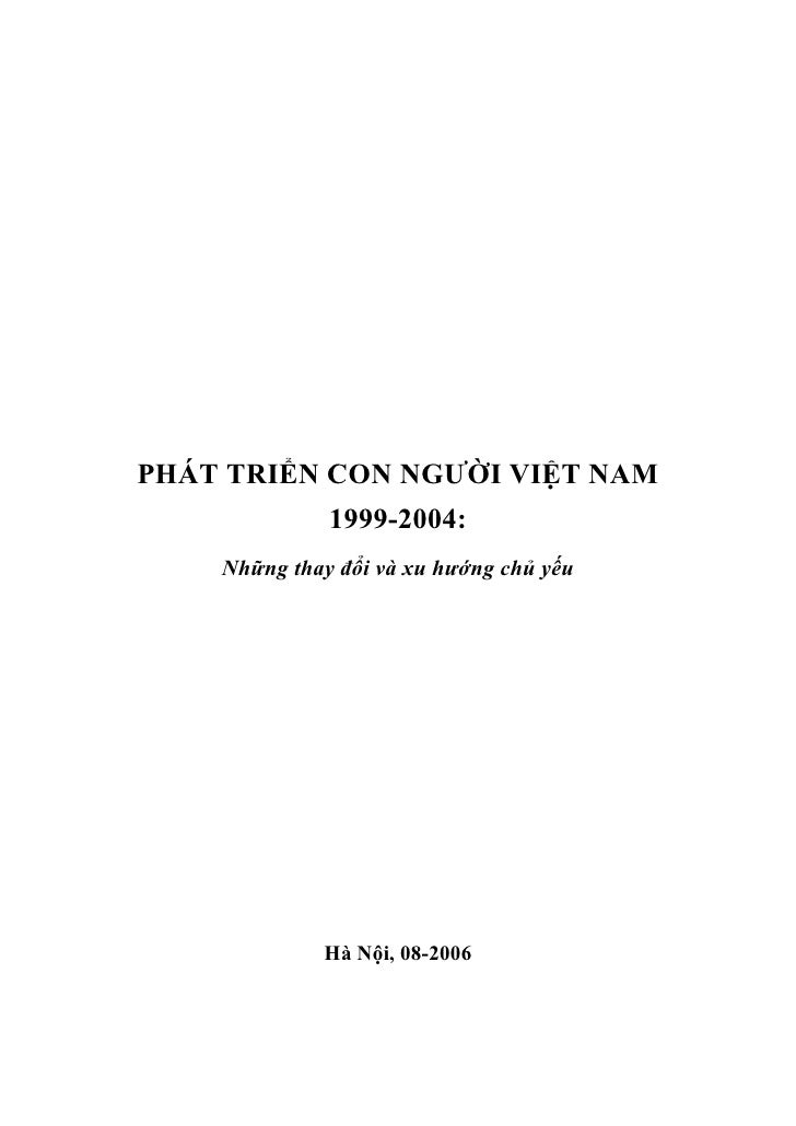 Phat trien con nguoi VN 1999-2004
