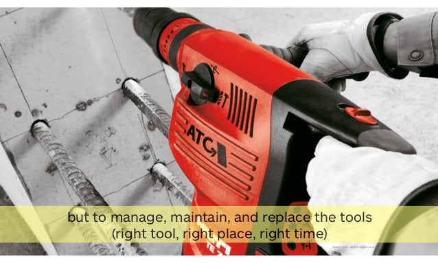 52[source photo: griffinindustrial.co.uk] but to manage, maintain, and replace the tools (right tool, right place, right t...