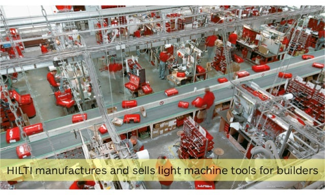 27 [source photo: ceratizit.com] HILTI manufactures and sells light machine tools for builders