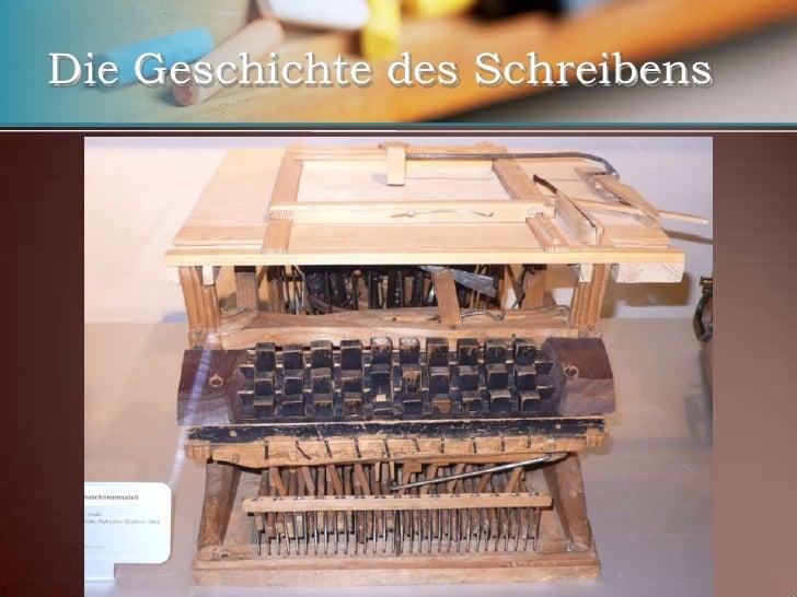 Computer</li></li></ul><li>Die Geschichte des Schreibens<br />