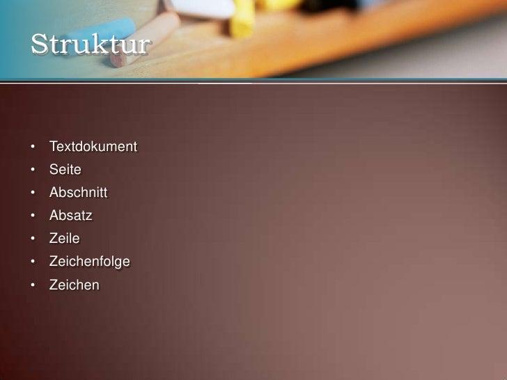 Computergestütze Textverabreiutng - Formatierung Slide 3