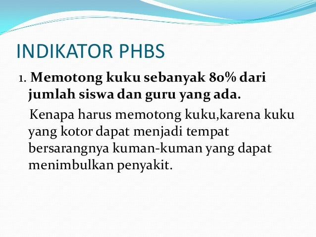 Phbs anak sekolah Slide 3