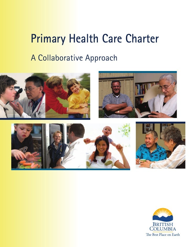 Primary Health Care Charter A Collaborative Approach
