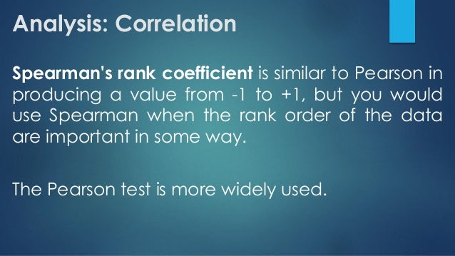 an introduction to the spearmans rank correlation a technique used to test the direction and strengt A correlation coefficient describes direction (positive or negative) and degree ( strength) of relationship between two variables the higher the correlation  coefficient, the stronger the relationship the coefficient also is used to obtain a p  value indicated whether the degree of  use the spearman rank-order  coefficient (rs.