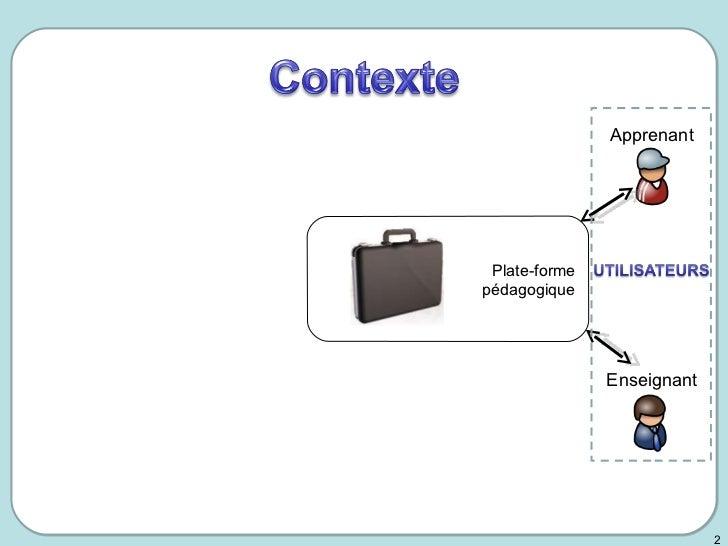 Le cycle de vie de l'objet pédagogique et de ses métadonnées - PhD presentation 2008 Slide 2