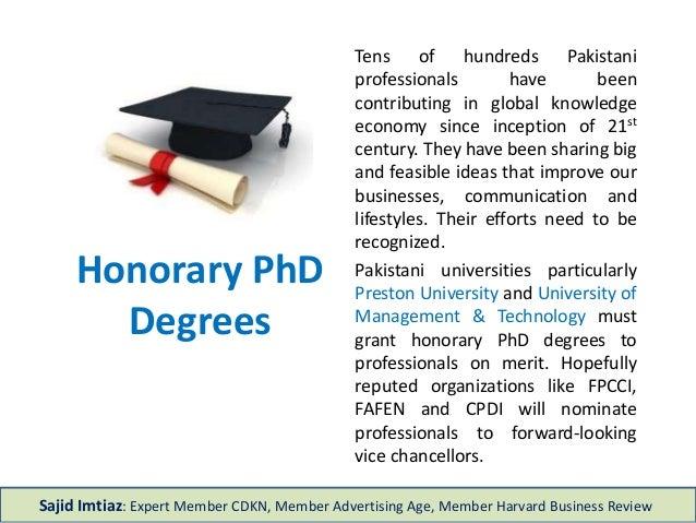 Honorary PhD Degree