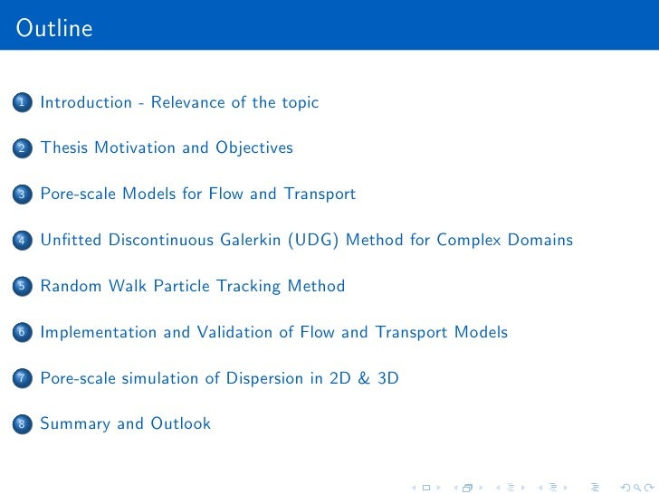 porous media thesis This thesis details the process taken for the computational modelling of  convective heat transfer in porous media with the objective of improving the  accuracy of.