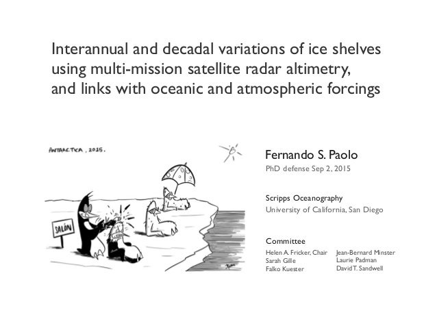 Interannual and decadal variations of ice shelves using multi-mission satellite radar altimetry, and links with oceanic an...