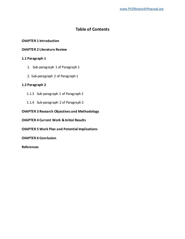 Phd Research Proposal Template