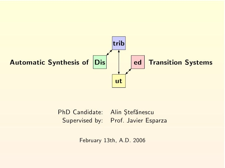 trib  Automatic Synthesis of Dis             ed Transition Systems                                  ut                 PhD...