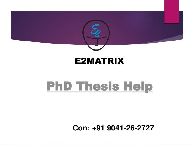 phd thesis helper Buy thesis paper - get the best writing assistance from experts a thesis paper is a voluminous piece of writing based on your own ideas and the research you conduct as a part of a college degree.