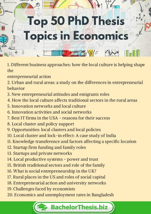 Phd thesis on economics
