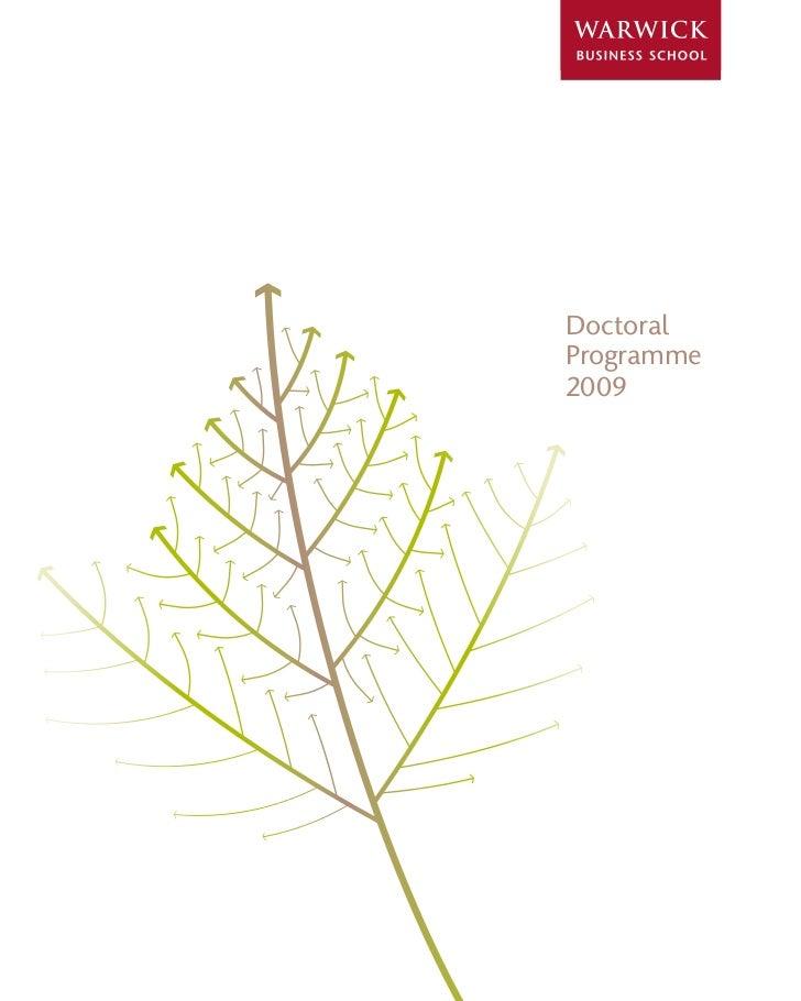 Doctoral Programme 2009