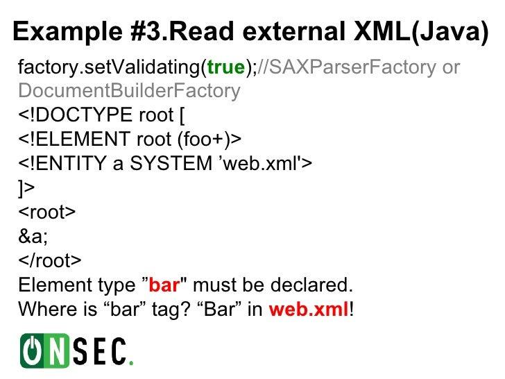Setvalidating xml