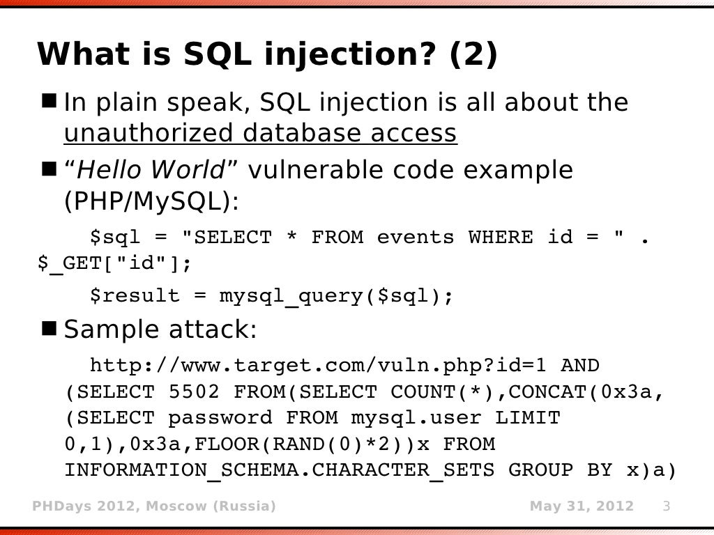 how to detect sql injection