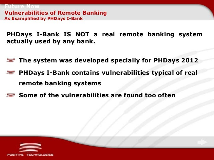 Typical Vulnerabilities of E-Banking Systems