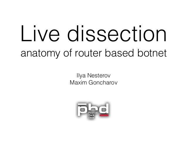 Live dissection  anatomy of router based botnet Ilya Nesterov Maxim Goncharov