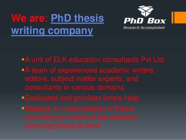 Thesis writing company