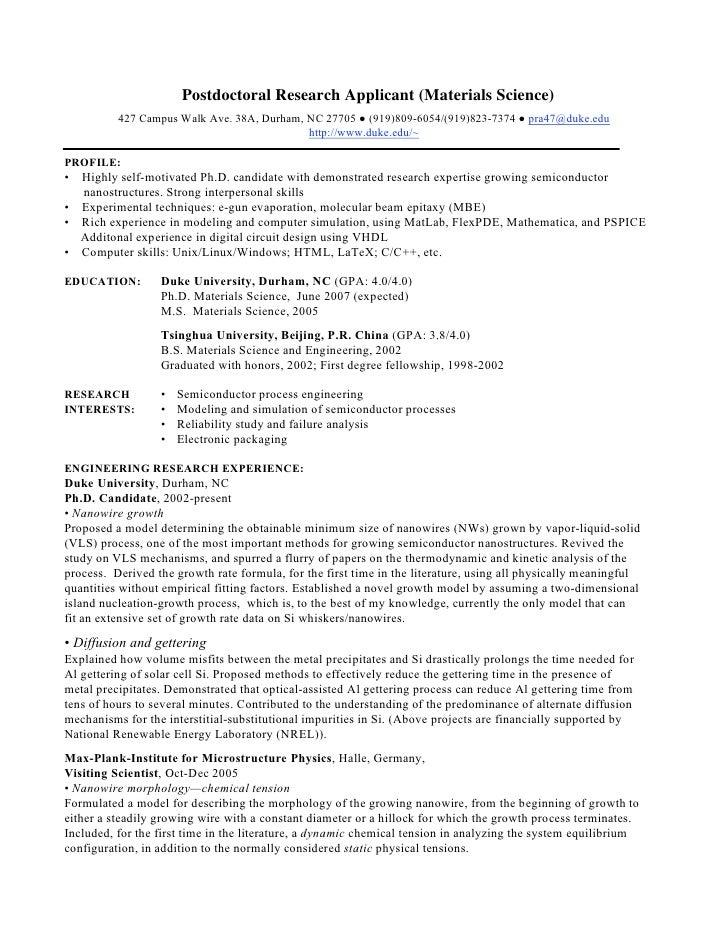 Scientific cover letter phd