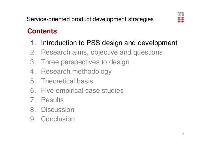 Service oriented product development strategies phd defence for Product design and development services