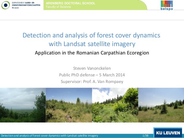 Detection and analysis of forest cover dynamics with Landsat satellite imagery Application in the Romanian Carpathian Ecor...