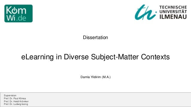 Dissertation subject matter