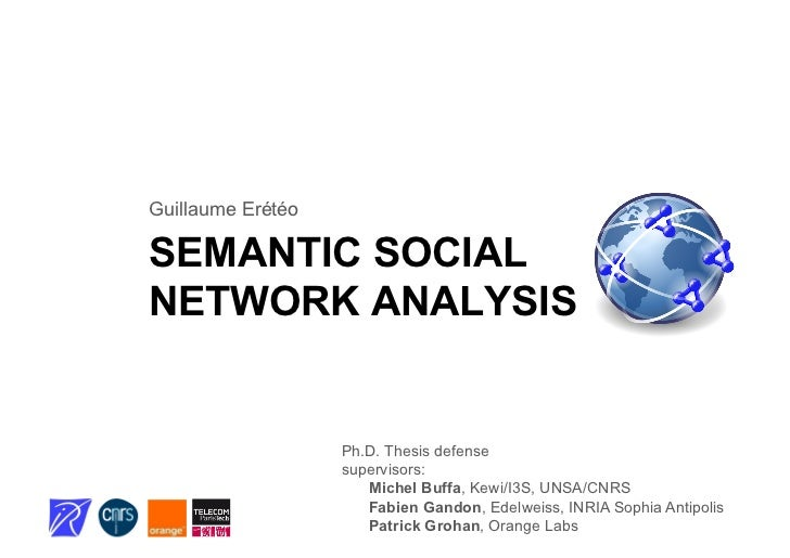 Ph.D. defense: semantic social network analysis