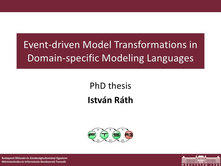 Event-driven Model Transformations in                Domain-specific Modeling Languages                                   ...