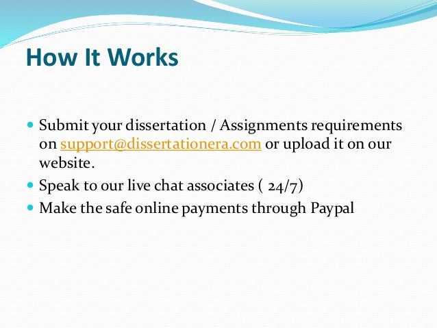 Phd dissertation assistance review