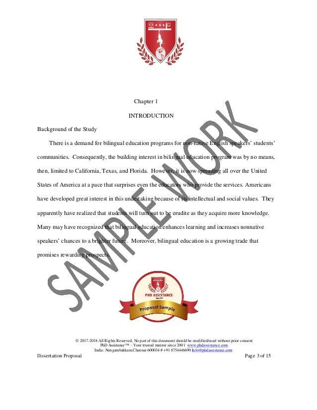 Phd Assistance Proposal Sample Phdassistance Com