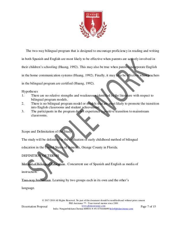 Dissertation proposal assistance