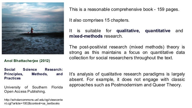 Anol Bhattacherjee (2012) Social Science Research: Principles, Methods, and Practices University of Southern Florida Open ...