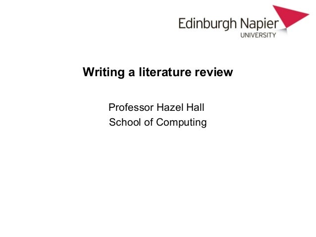 literature review anthropology
