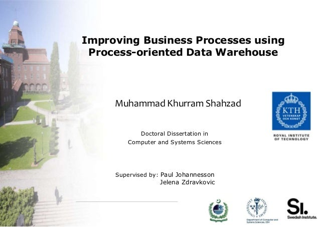 Improving Business Processes using Process-oriented Data Warehouse     Muhammad Khurram Shahzad             Doctoral Disse...