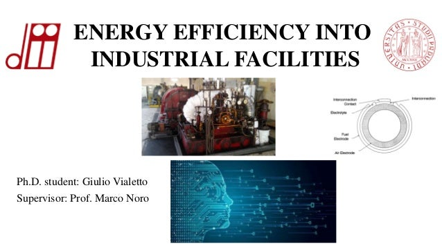 Ph.D. student: Giulio Vialetto Supervisor: Prof. Marco Noro ENERGY EFFICIENCY INTO INDUSTRIAL FACILITIES