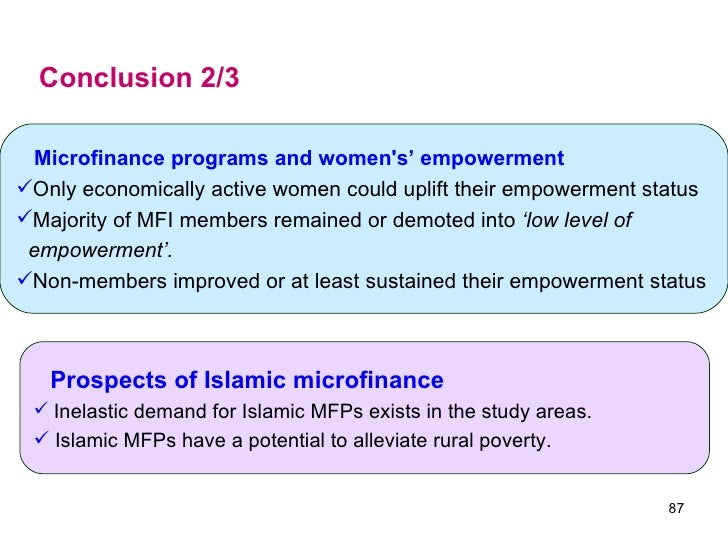 islamic microfinance and poverty alleviation for Islamic microfinance institutions (mfis) ahmad kaleem  3 to compare the current practices of mfis with islamic concepts of poverty alleviation 4.