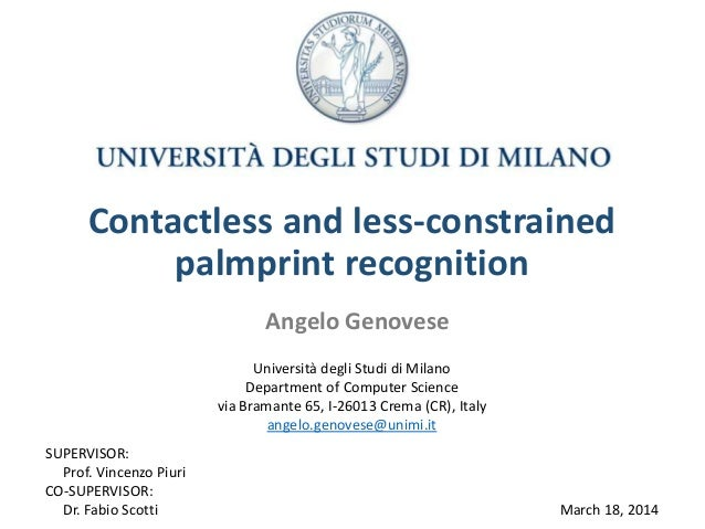 thesis on palmprint recognition