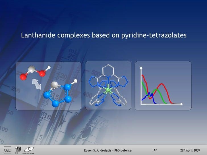 Lanthanide complexes based on pyridine-tetrazolates