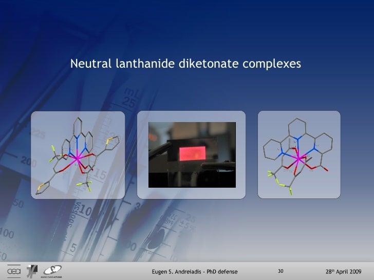 Neutral lanthanide diketonate complexes