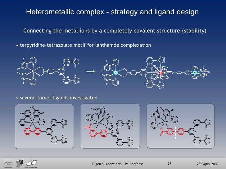 Heterometallic complex - strategy and ligand design <ul><li>terpyridine-tetrazolate motif for lanthanide complexation </li...