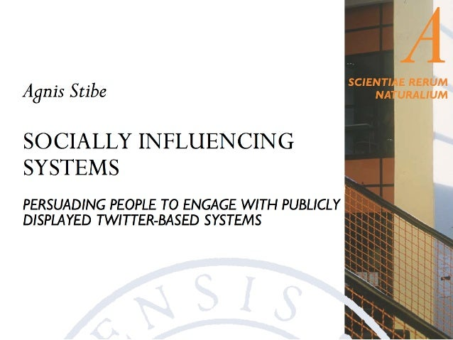 Socially!  Influencing!  Systems!  (SIS)!  Social!  Influence!  Information!  Systems!  Social learning (SL)!  Social comp...