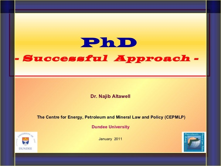 Dr. Najib Altawell   The Centre for Energy, Petroleum and Mineral Law and Policy (CEPMLP) Dundee University January  2011 ...